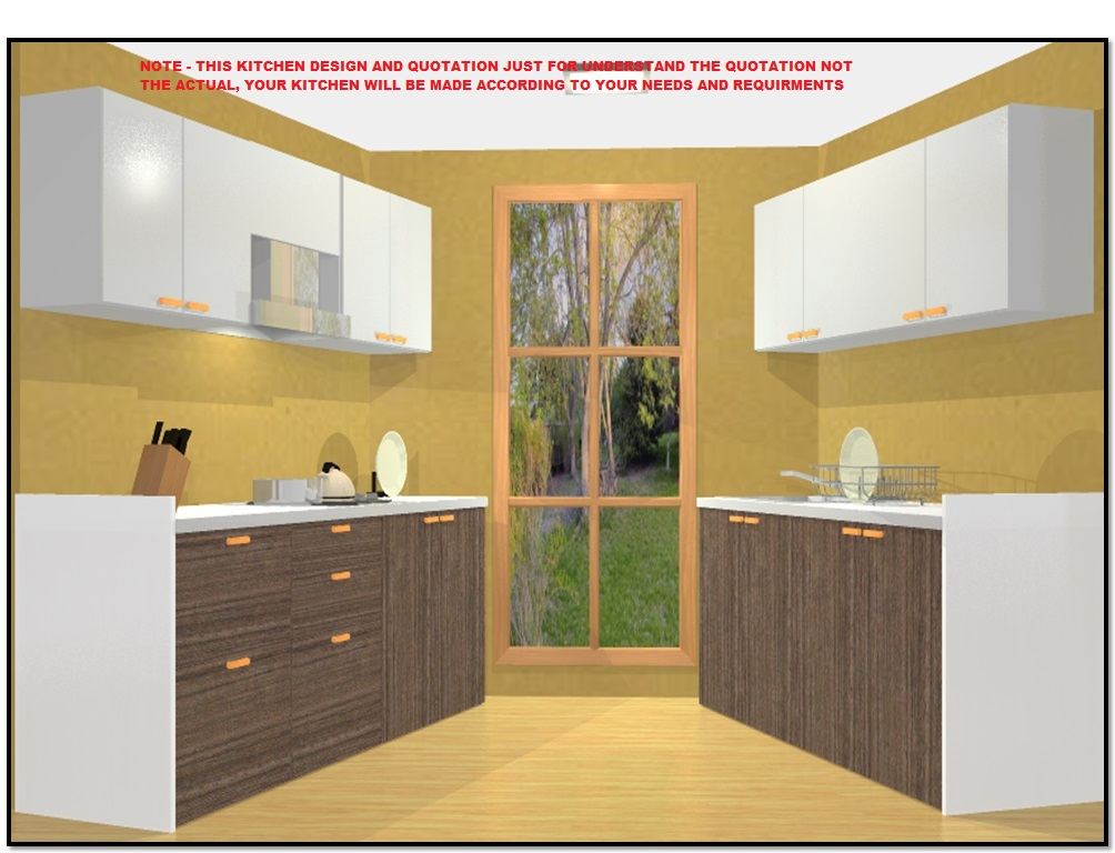 8 X 7 65 Off Parallel Semi Modular Kitchen In Marine Plywood By Bamsv Omaa Furnishing