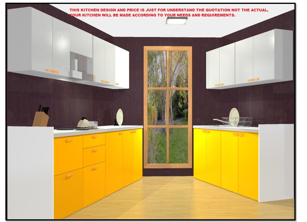 9 X 8 50 Off Kitchen Parallel Fully Modular Laminate Kitchen In Marine Plywood By Bamsv Omaa Furnishing